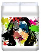 Kate Beckinsale Pop Art Duvet Cover