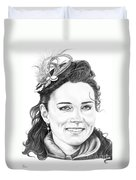 Kate Middleton Duvet Cover by Murphy Elliott