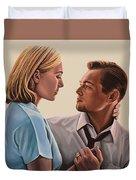 Kate Winslet And Leonardo Dicaprio Duvet Cover