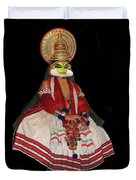 Kathakali Dancer Duvet Cover