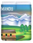 Kathmandu Nepal Horizontal Scene Duvet Cover