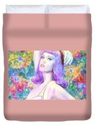 Katy Perry Watercolor, Duvet Cover