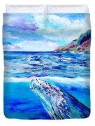 Kauai Humpback Whale Duvet Cover