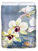 Kauai Orchid Festival Duvet Cover