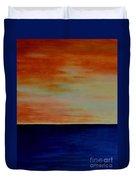 Kauai Sunset Under Vog Duvet Cover