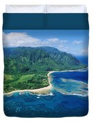 Kauai, Tunnels Beach Duvet Cover