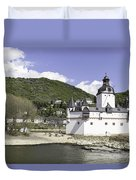 Kaub And Burg Pfalzgrafenstein Duvet Cover