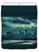 Kaw Point Kansas City Skyline Duvet Cover