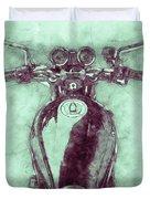 Kawasaki Z1 - Kawasaki Motorcycles 3 - 1972 - Motorcycle Poster - Automotive Art Duvet Cover
