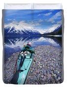 Kayak Ashore Duvet Cover