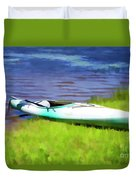 Kayak In Upstate Ny Duvet Cover