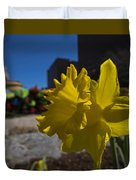 Kayak Launch Daffodil Cambridge Ma Duvet Cover