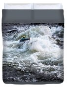 Kayak Roll Up In Pipeline Rapids 5959 Duvet Cover