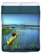 Kayak Sunrise Duvet Cover