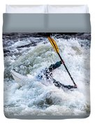 Kayaker In Action At Pipeline Rapids In James River 5956c Duvet Cover