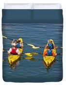 Kayakers In Bar Harbor Maine Duvet Cover