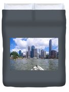 Kayaking On The Brisbane River Duvet Cover