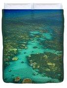 Kayaking Through Beautiful Coral Duvet Cover