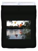 Kayaks And Balloons Duvet Cover
