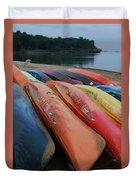 Kayaks At Rest Duvet Cover