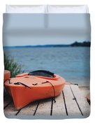 Kayaks  Duvet Cover