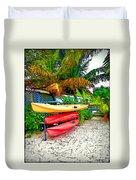 Kayaks In Paradise Duvet Cover