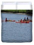 Kayaks Duvet Cover