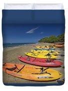 Kayas On Beach Duvet Cover