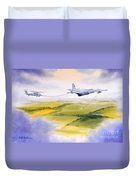 Kc-130 Tanker Aircraft Refueling Pave Hawk Duvet Cover