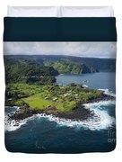 Keanae Peninsula Aerial Duvet Cover