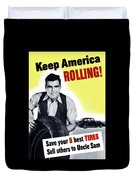 Keep America Rolling Duvet Cover