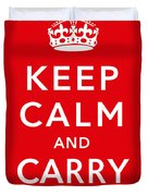 Keep Calm And Carry On Duvet Cover