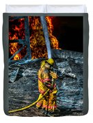 Keep Fire In Your Life No 8 Duvet Cover