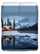 Keep The Home Fires Burning For The Weary Winter Traveler Duvet Cover