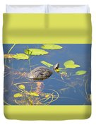 Keeping His Head Above Water Duvet Cover