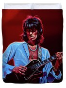 Keith Richards The Riffmaster Duvet Cover