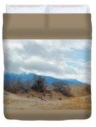 Kelso Dunes Winter Landscape Duvet Cover