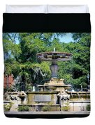Kenan Memorial Fountain Duvet Cover