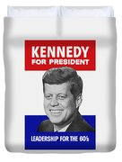 Kennedy For President 1960 Campaign Poster Duvet Cover
