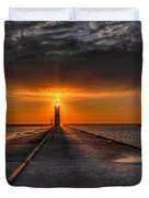 Kenosha Lighthouse Beacon Duvet Cover