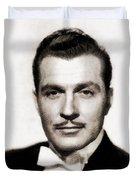 Kent Taylor, Vintage Actor Duvet Cover