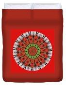 Kentucky Derby Glasses Kaleidoscope 3 Duvet Cover