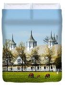Revised Kentucky Horse Barn Hotel 2 Duvet Cover