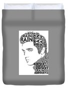 Kentucky Rain Elvis Wordart Duvet Cover