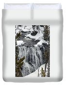 Firehole Falls Yellowstone Duvet Cover