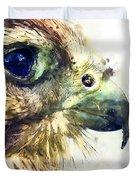 Kestrel Watercolor Painting Duvet Cover