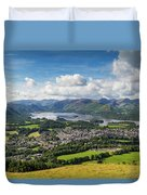 Keswick And Derwent Water View From Latrigg Duvet Cover