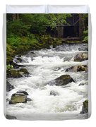 Ketchikan Creek Of Creek Street Fame Duvet Cover