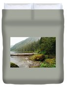 Ketchikan's Misty Fjord Duvet Cover
