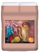 Kettle And Fruit Duvet Cover